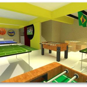 Salão de Jogos (Setembro/2018) - Espaço para jogos e convivência