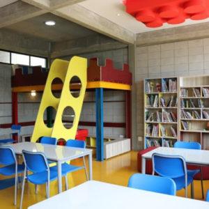 Sala de informática, robótica e biblioteca