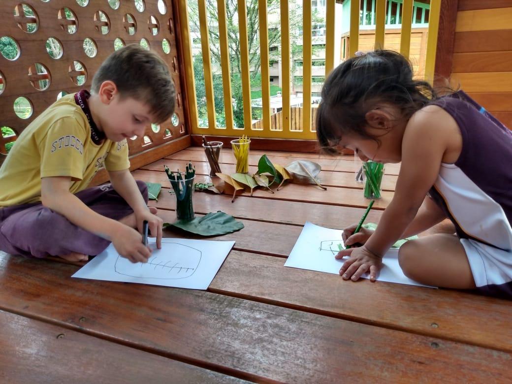 Estudantes da Educação Infantil no período integral no Colégio Stocco de Santo André